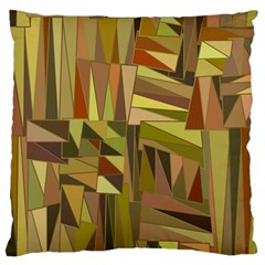 Earth Tones Geometric Shapes Unique Large Flano Cushion Case (two Sides)