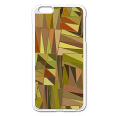 Earth Tones Geometric Shapes Unique Apple iPhone 6 Plus/6S Plus Enamel White Case