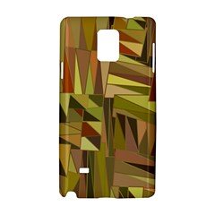 Earth Tones Geometric Shapes Unique Samsung Galaxy Note 4 Hardshell Case