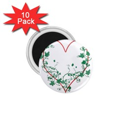 Heart Ranke Nature Romance Plant 1.75  Magnets (10 pack)