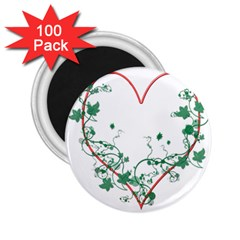 Heart Ranke Nature Romance Plant 2.25  Magnets (100 pack)