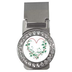 Heart Ranke Nature Romance Plant Money Clips (cz)