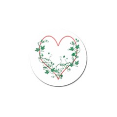 Heart Ranke Nature Romance Plant Golf Ball Marker