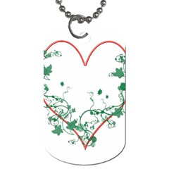 Heart Ranke Nature Romance Plant Dog Tag (Two Sides)
