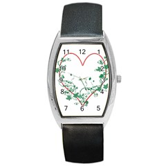 Heart Ranke Nature Romance Plant Barrel Style Metal Watch