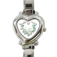 Heart Ranke Nature Romance Plant Heart Italian Charm Watch