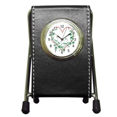 Heart Ranke Nature Romance Plant Pen Holder Desk Clocks