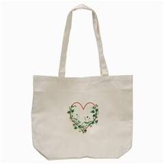 Heart Ranke Nature Romance Plant Tote Bag (cream)