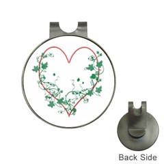 Heart Ranke Nature Romance Plant Hat Clips with Golf Markers