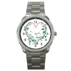 Heart Ranke Nature Romance Plant Sport Metal Watch