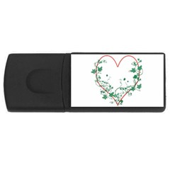 Heart Ranke Nature Romance Plant Usb Flash Drive Rectangular (4 Gb)