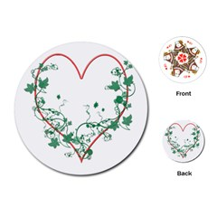 Heart Ranke Nature Romance Plant Playing Cards (round)