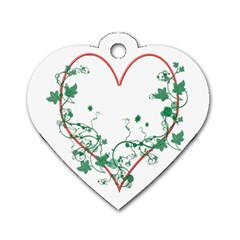Heart Ranke Nature Romance Plant Dog Tag Heart (Two Sides)