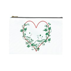 Heart Ranke Nature Romance Plant Cosmetic Bag (Large)