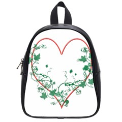 Heart Ranke Nature Romance Plant School Bags (Small)