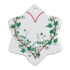 Heart Ranke Nature Romance Plant Snowflake Ornament (Two Sides)