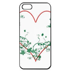 Heart Ranke Nature Romance Plant Apple iPhone 5 Seamless Case (Black)