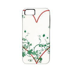 Heart Ranke Nature Romance Plant Apple iPhone 5 Classic Hardshell Case (PC+Silicone)