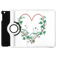 Heart Ranke Nature Romance Plant Apple iPad Mini Flip 360 Case