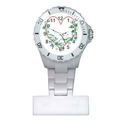 Heart Ranke Nature Romance Plant Plastic Nurses Watch