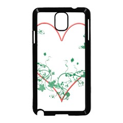 Heart Ranke Nature Romance Plant Samsung Galaxy Note 3 Neo Hardshell Case (Black)