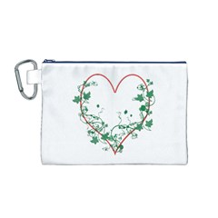 Heart Ranke Nature Romance Plant Canvas Cosmetic Bag (m)