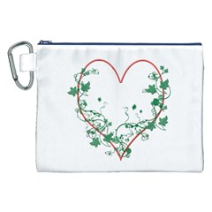 Heart Ranke Nature Romance Plant Canvas Cosmetic Bag (XXL)