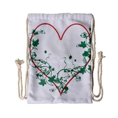 Heart Ranke Nature Romance Plant Drawstring Bag (small)