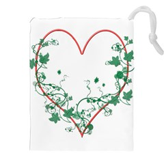 Heart Ranke Nature Romance Plant Drawstring Pouches (XXL)