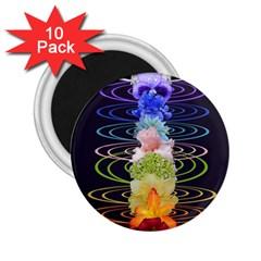Chakra Spiritual Flower Energy 2 25  Magnets (10 Pack)