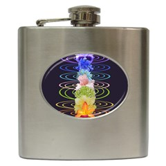 Chakra Spiritual Flower Energy Hip Flask (6 oz)