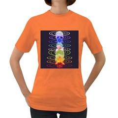 Chakra Spiritual Flower Energy Women s Dark T-Shirt