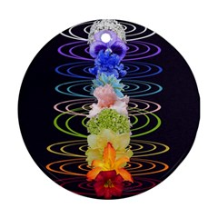 Chakra Spiritual Flower Energy Round Ornament (Two Sides)