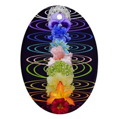 Chakra Spiritual Flower Energy Oval Ornament (Two Sides)