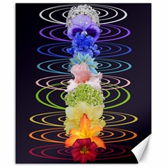 Chakra Spiritual Flower Energy Canvas 20  x 24