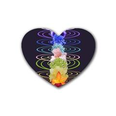 Chakra Spiritual Flower Energy Heart Coaster (4 Pack)