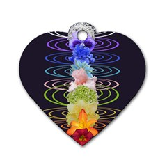 Chakra Spiritual Flower Energy Dog Tag Heart (one Side)