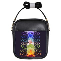 Chakra Spiritual Flower Energy Girls Sling Bags