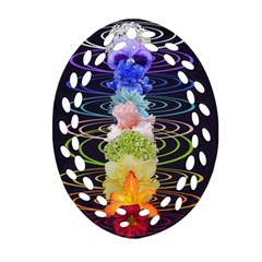 Chakra Spiritual Flower Energy Ornament (Oval Filigree)