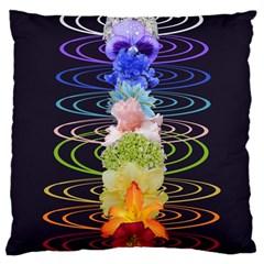Chakra Spiritual Flower Energy Large Cushion Case (One Side)
