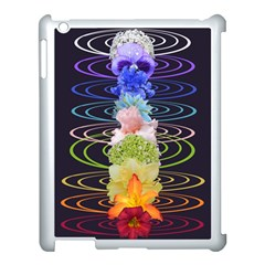 Chakra Spiritual Flower Energy Apple iPad 3/4 Case (White)