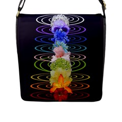 Chakra Spiritual Flower Energy Flap Messenger Bag (L)