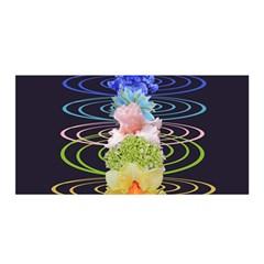 Chakra Spiritual Flower Energy Satin Wrap