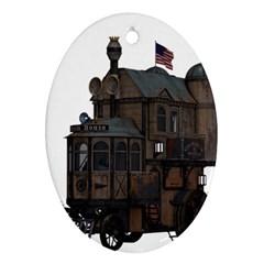 Steampunk Lock Fantasy Home Ornament (Oval)