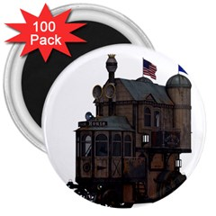 Steampunk Lock Fantasy Home 3  Magnets (100 Pack)