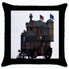 Steampunk Lock Fantasy Home Throw Pillow Case (Black)