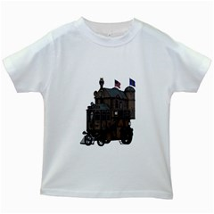 Steampunk Lock Fantasy Home Kids White T-Shirts