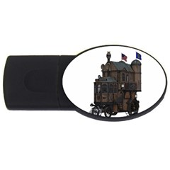 Steampunk Lock Fantasy Home USB Flash Drive Oval (1 GB)