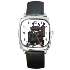Steampunk Lock Fantasy Home Square Metal Watch