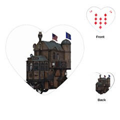 Steampunk Lock Fantasy Home Playing Cards (heart)